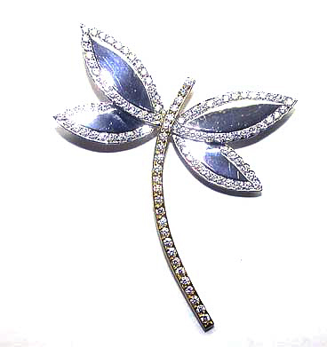 Diamond Dragonfly Pin