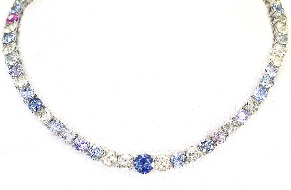 Multi-Colored Sapphire Necklace