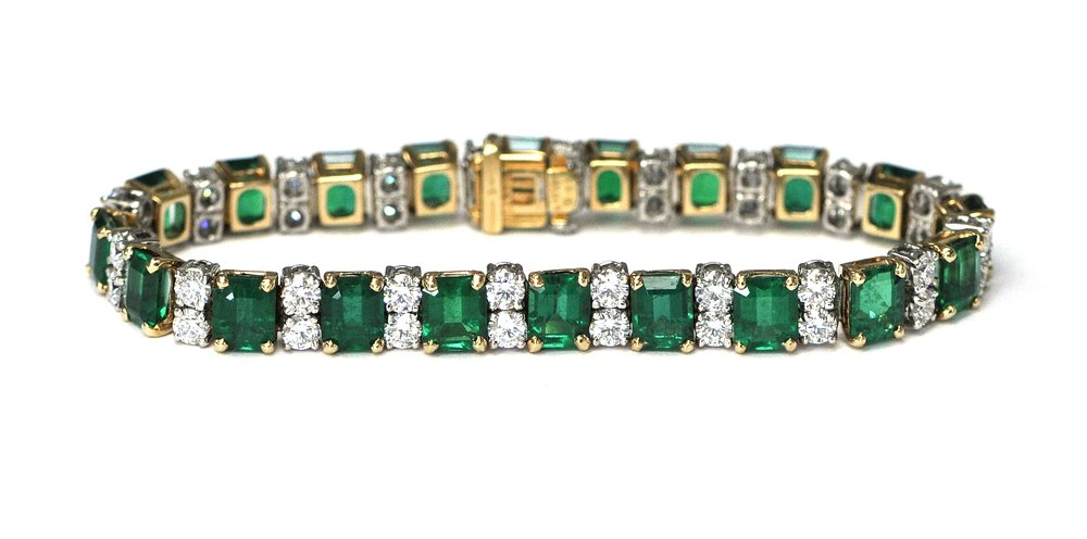 16ct Emerald & Diamond Heyman Bracelet