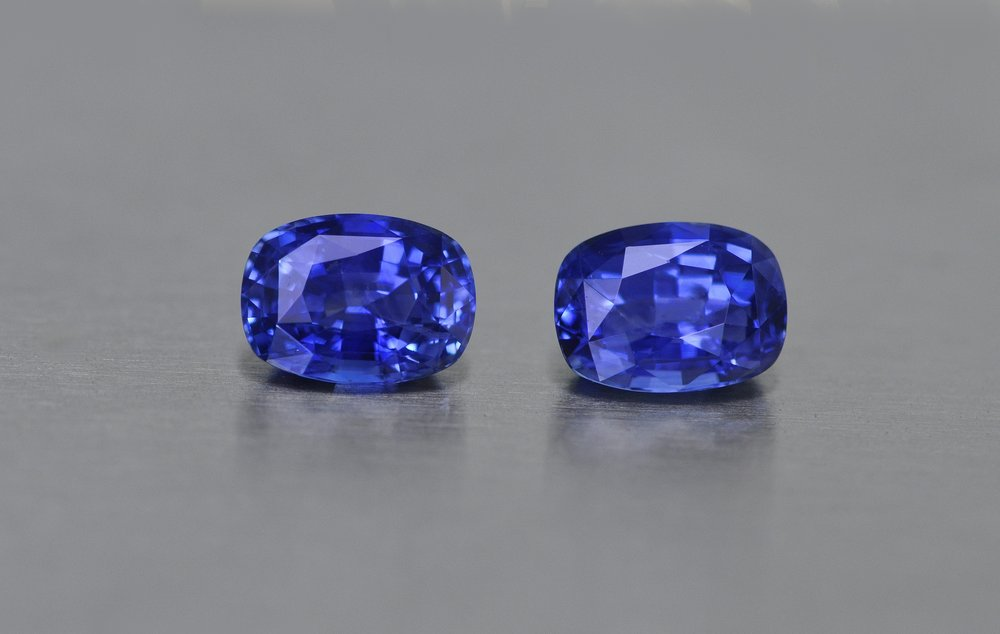 6.92ct Pair Sapphires
