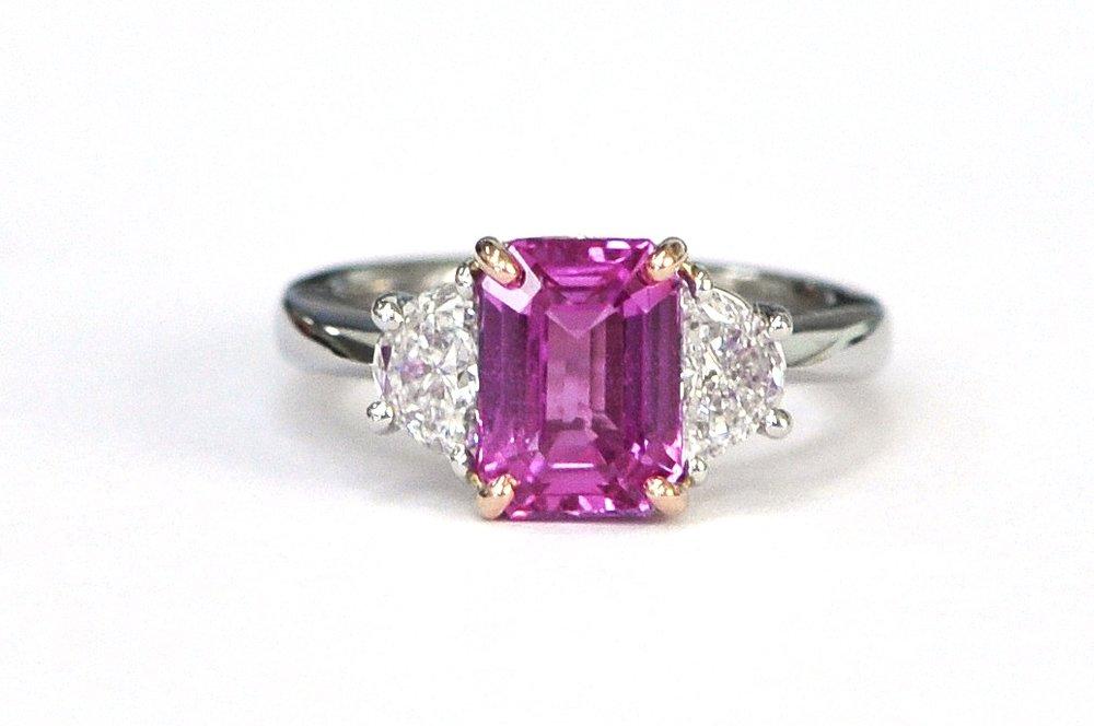 3.56ct Pink Sapphire & Diamond Ring
