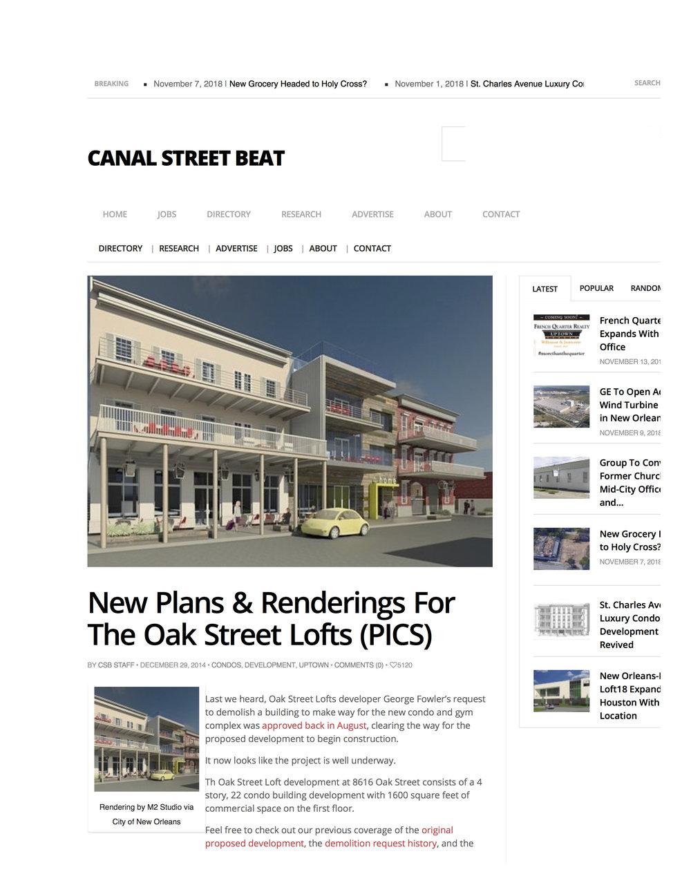 CANAL STREET BEAT | DEC 2014