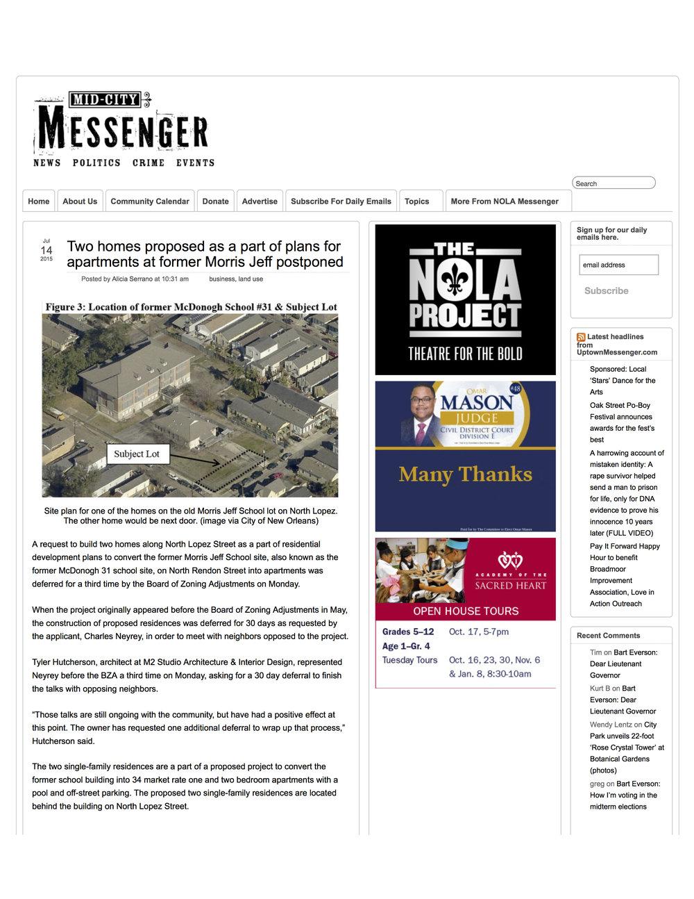 MID-CITY MESSENGER | JULY 2015