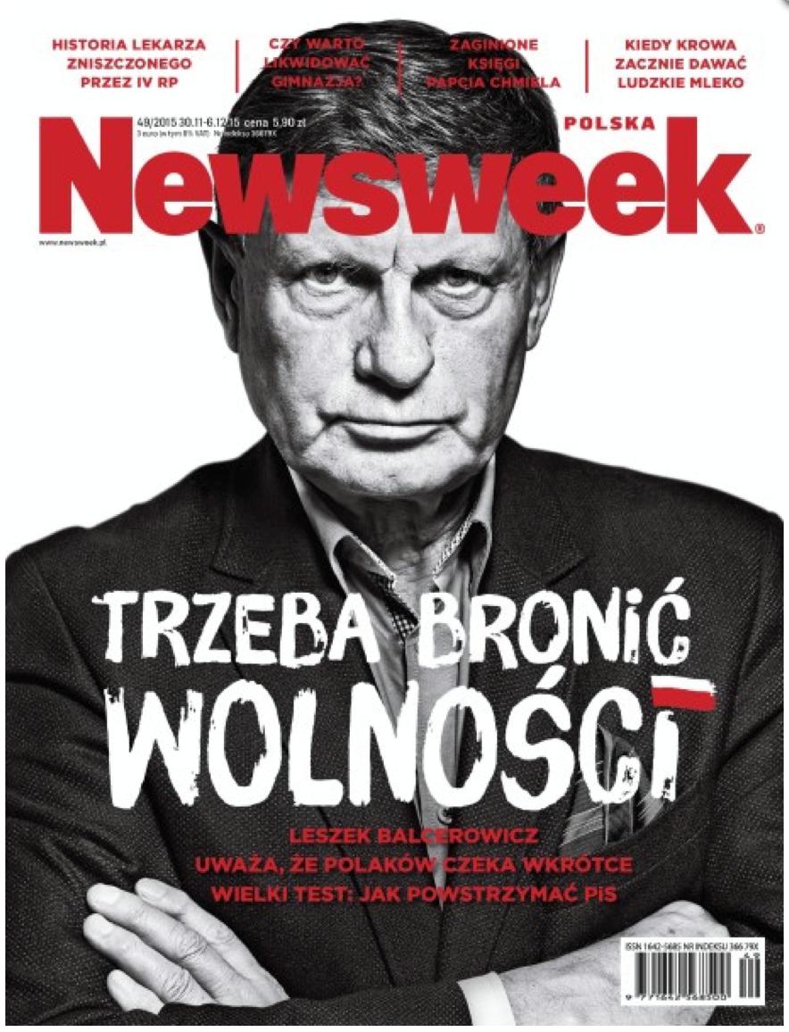 LESZEK BALCEROWICZ FOR NEWSWEEK POLSKA 49/2015