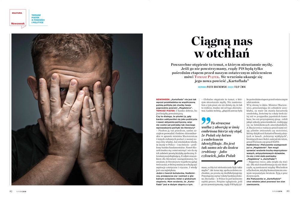 TOMASZ PIĄTEK FOR NEWSWEEK POLSKA 37/2016