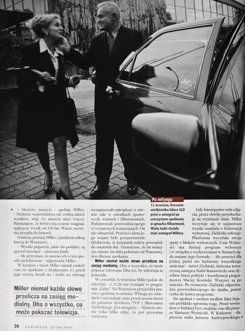 NEWSWEEK 2001 - CAMPAIGN ELECTION SLD