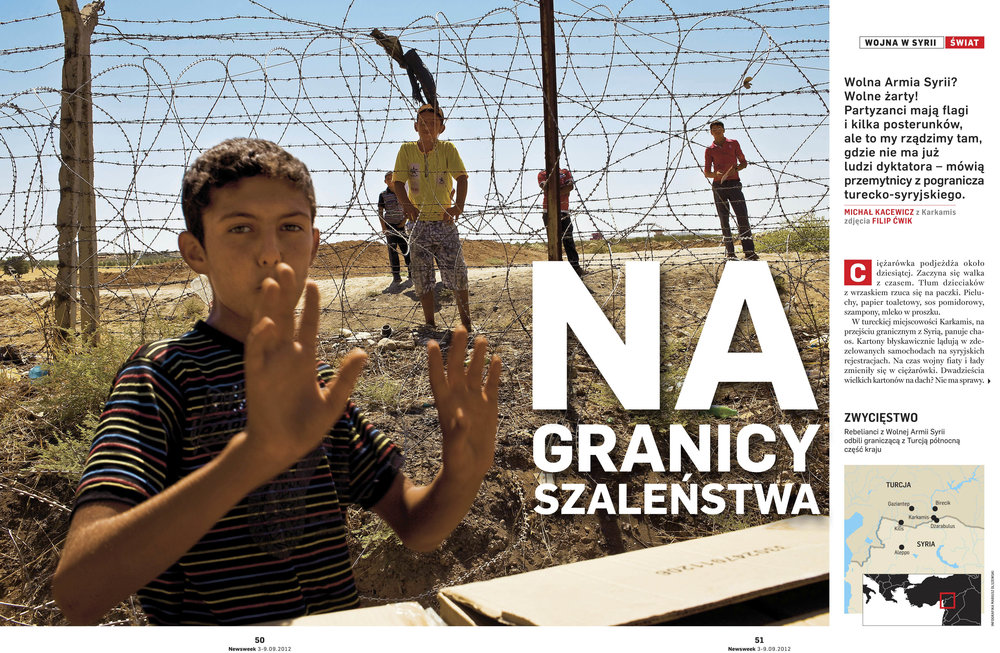 NEWSWEEK 2012 ON THE SYRIAN BORDER