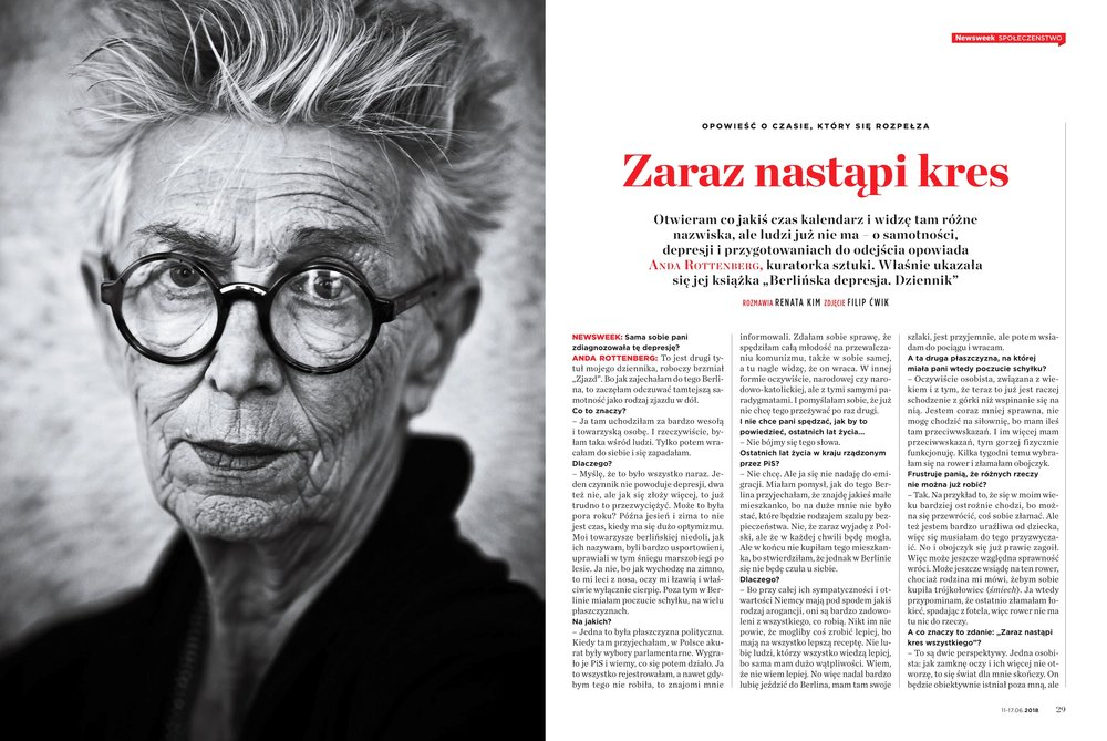 ANDA ROTTENBERG FOR NEWSWEEK POLSKA  NR 25/2018