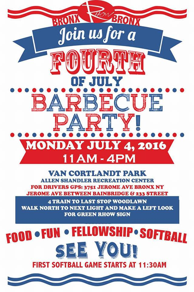 4th of July BBQ hosted by RHOW Bronx