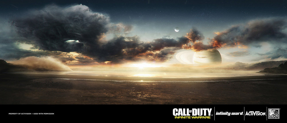 CALL OF DUTY INFINITE WARFARE Infinity Ward / Activision - MATTE PAINTINGS - 360 Panorama painting up to 16K HDR - Photoshop