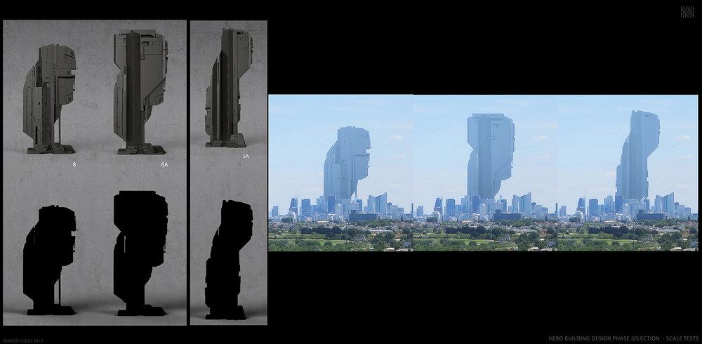BUD FANG NTROPIC LA - CONCEPT DESIGN / MATTE PAINTING - Some of the hero building designs - Maya / Arnold / Vue / Keyshot / Photoshop