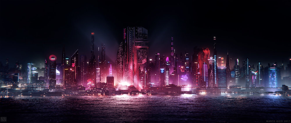 BUD FANG NTROPIC LA - CONCEPT DESIGN / MATTE PAINTING - FInal comp (by Ntropic) with Holograms additions as per client request