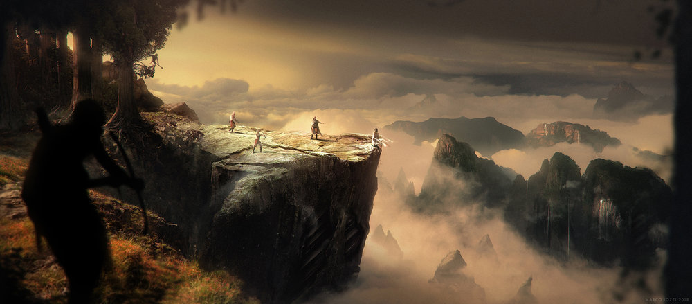 """HALCYON     - """"The Cliff"""" - Concept Art for a Short story pitch   by Hubert Daniel at  BLUR Studios  -   Photoshop / Vue / Maya"""