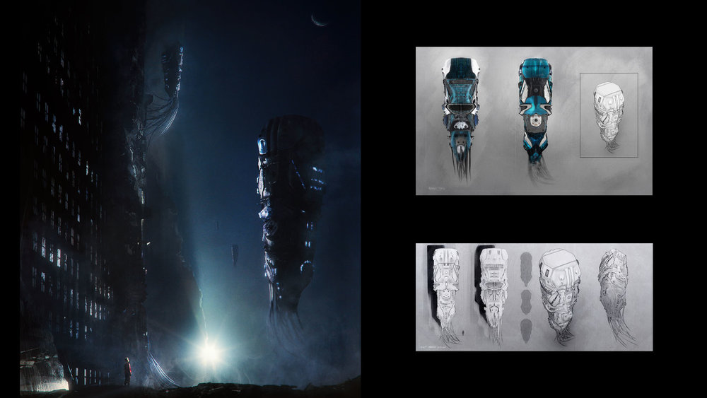 SHIP DESIGN    -  Experiments in space ships design, from conception to execution of a more refined piece in context