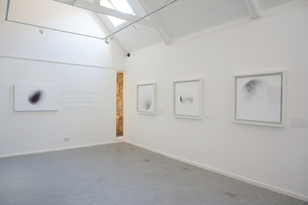 Elemental,  Taigh Chearsbhagh, Gallery 2 - Meg Rodger, Wind Drawings (Ink on Paper)