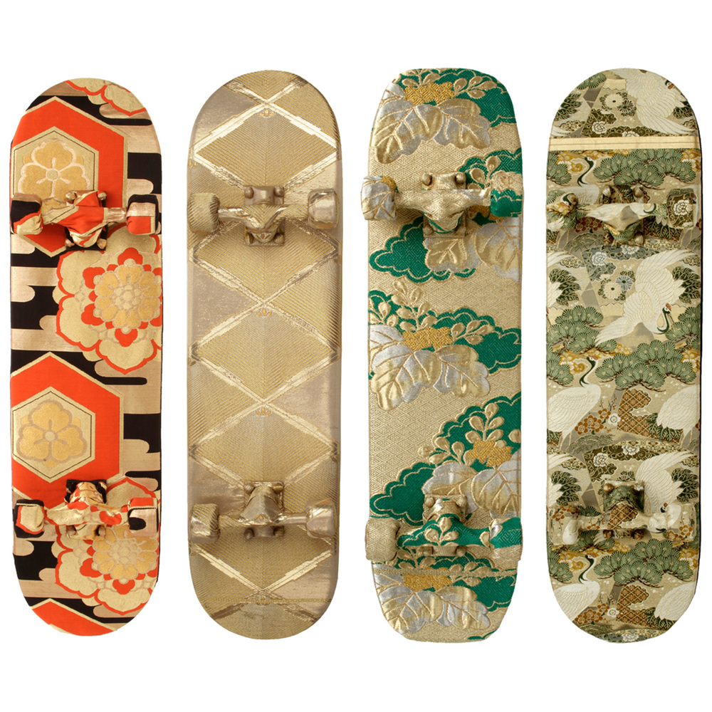 Zillion Kimono-wrapped Skateboards
