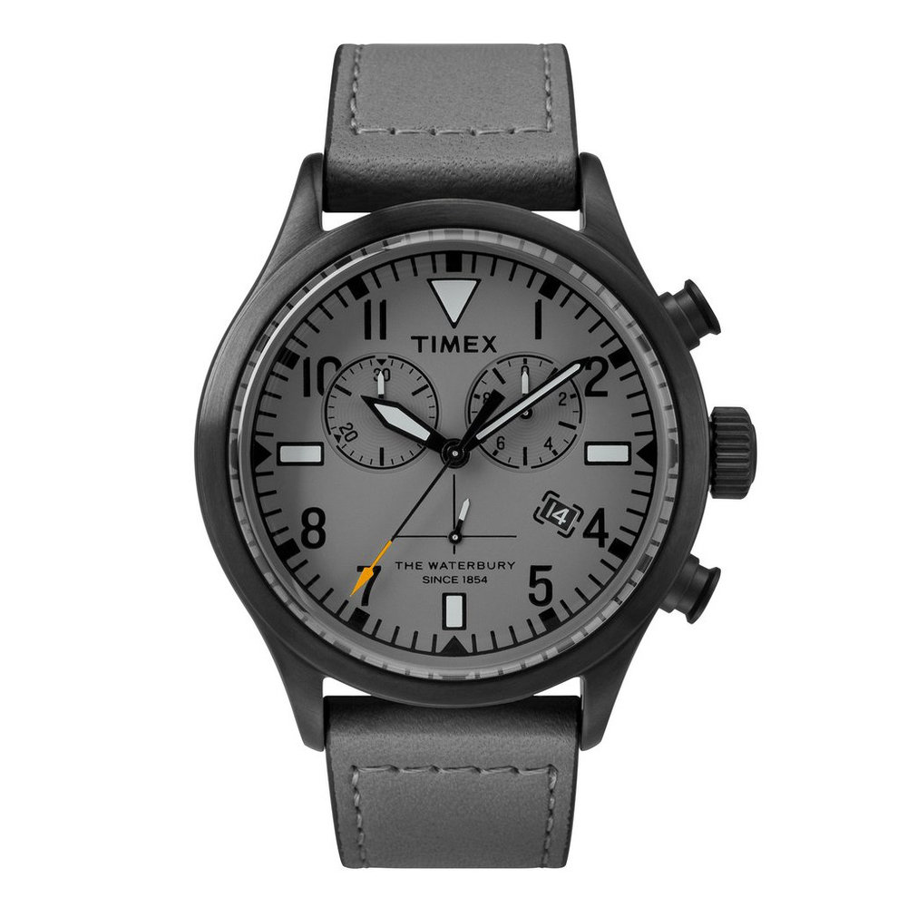Todd Snyder + Timex Red Wing Shoe Leather Chronograph in Grey
