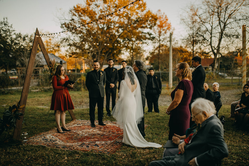 Boho Outdoor Ceremony | American Traditional Tattoo Themed Eco Friendly Dark Florida Wedding