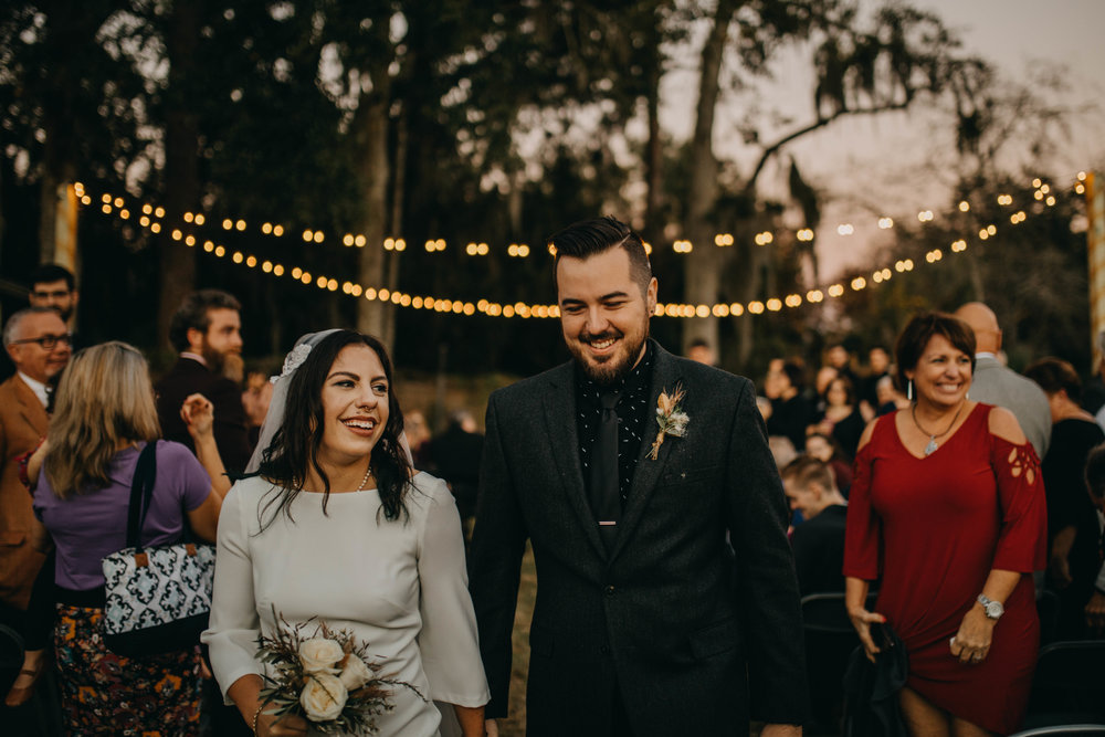 Bohemian Outdoor Ceremony | American Traditional Tattoo Themed Eco Friendly Dark Florida Wedding