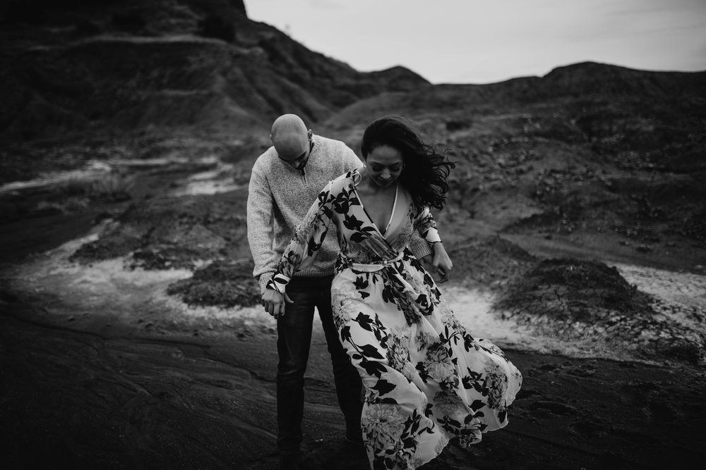 Engagement Photo at Gloss Mountain State Park in Oklahoma.