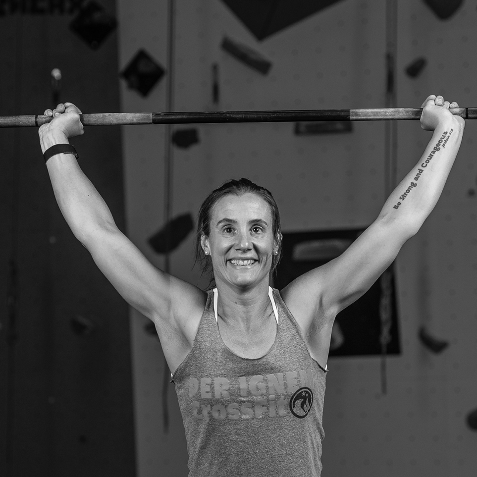 JEN MCARDLE  | GYM MANAGER  My name is Jen and I'm so excited to be a part of the team here at Per Ignem! I found CrossFit in 2011 when I did my first intro class at a local gym. I loved the challenge and I was embraced by the community. I was immediately hooked! CrossFit quickly helped me see my capabilities were beyond what I had previously thought possible. CrossFit built my confidence and that transferred to all areas of my life. It wasn't long before my passion for my own fitness and life transformation turned into a desire to help others experience these same changes. I began coaching in early 2012 and it has been one of the best parts of my life. I love meeting new people and getting to know them and their goals . It is one of the greatest things to watch someone accomplish something they didn't realize was possible and I love getting to be a small part of that journey.   CREDENTIALS  CrossFit Level 2  USA Weightlifting  2104 CrossFit Games North East Regionals  Team Athlete