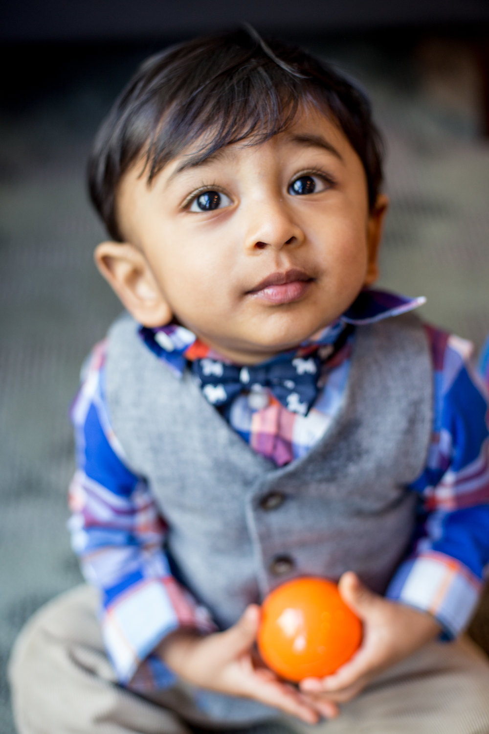 1 year old playing at his birthday party in San Francisco