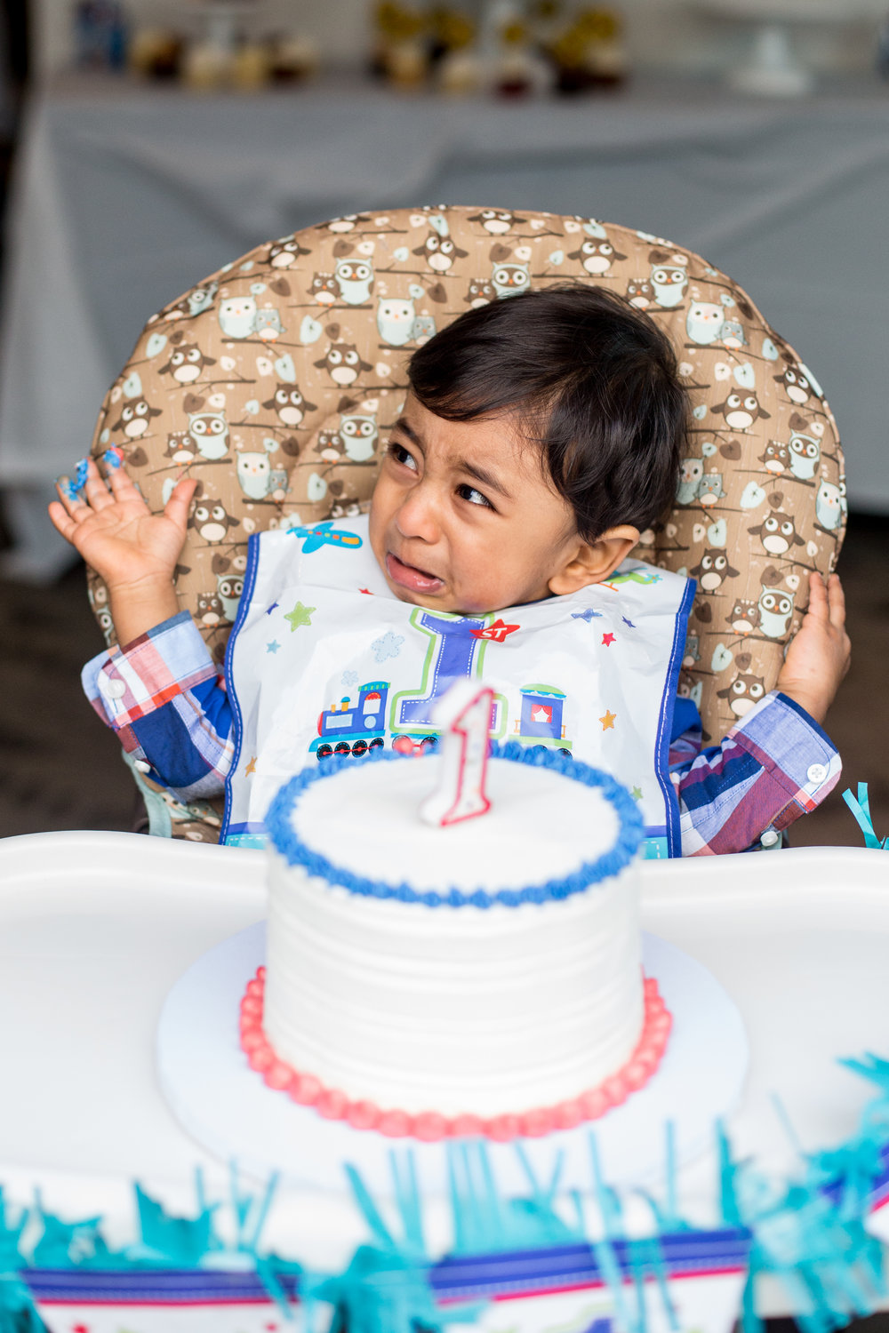 1 year old not smashing cake in San Francisco