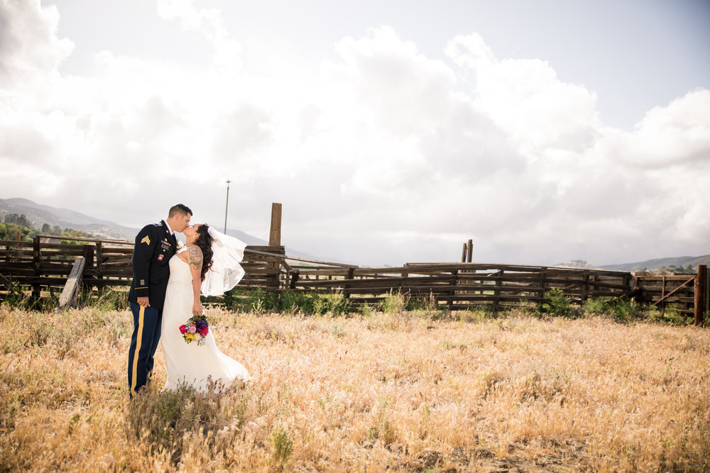 Archer Inspired Photography featured on Borrowed & Blue wedding blog for spring military wedding in California