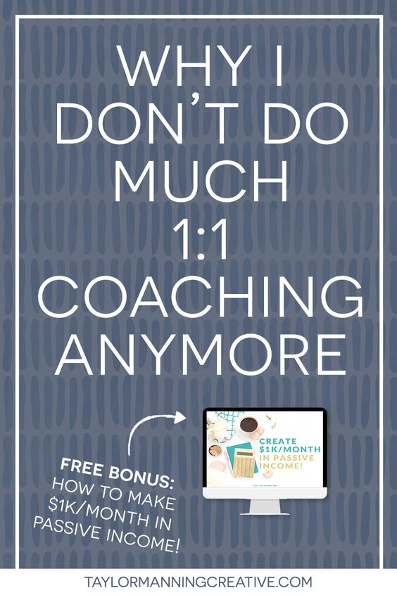 Why I don't do much 1:1 Coaching Anymore