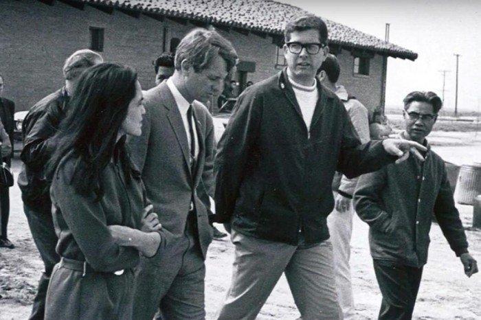 Delores Huerta, Robert Kennedy, Paul Schrade.