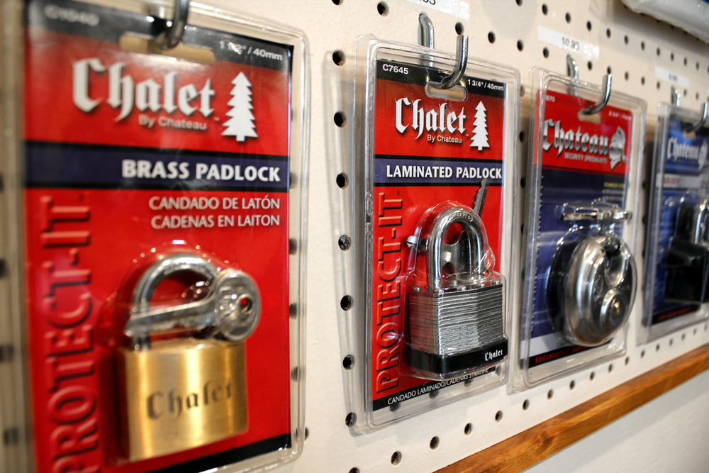 We sell locks....