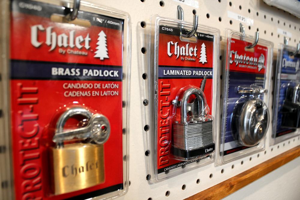 We sell locks....