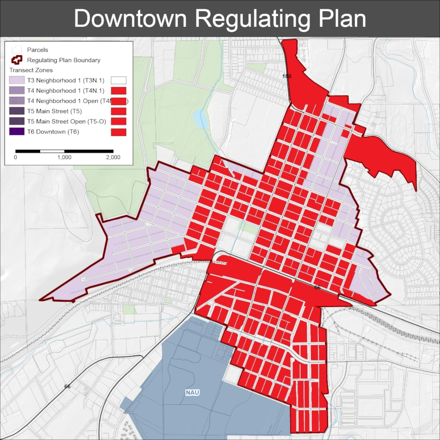 The Board of Adjustment decision, if uncontested, would allow a building the size of the Hub to be built under transect zoning in all of these areas.