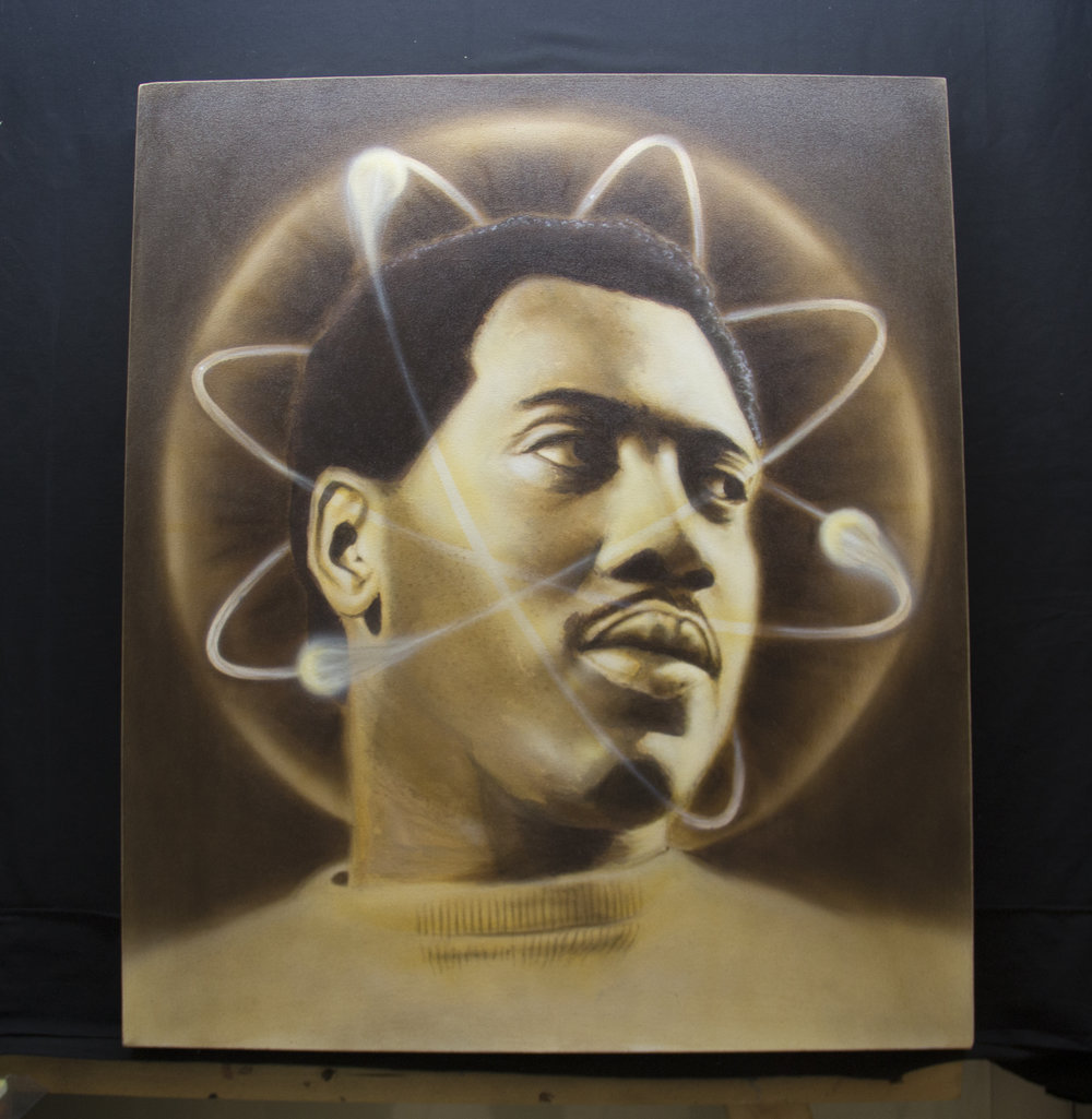 Otis Redding Airbrush Portrait