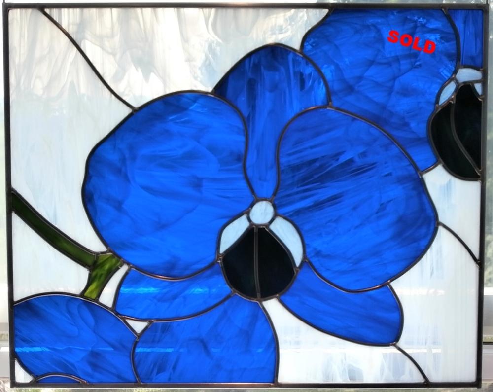 """Blue Orchids ~ 16"""" x 20"""""""