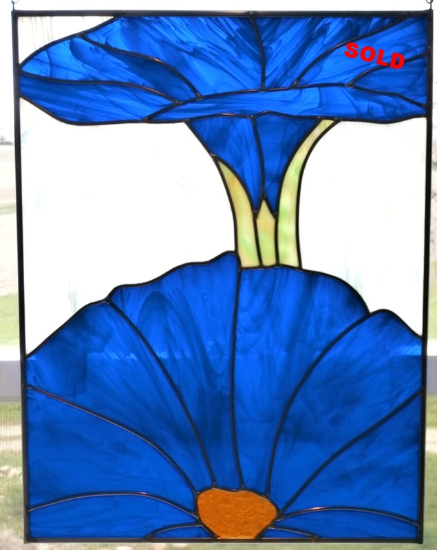 "Blue Morning Glories ~ 16"" x 21"""