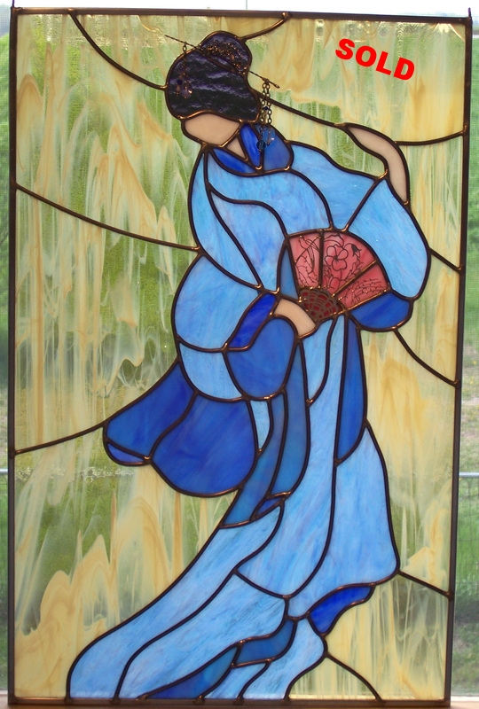 "Ukioye Dancer ~ 16"" x 24"""