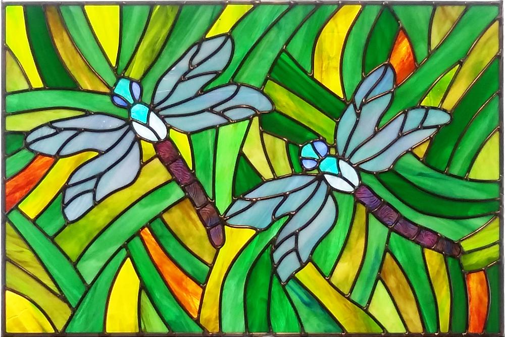 "Dragonfly Garden II ~ 16"" x 24"" ~ $670"