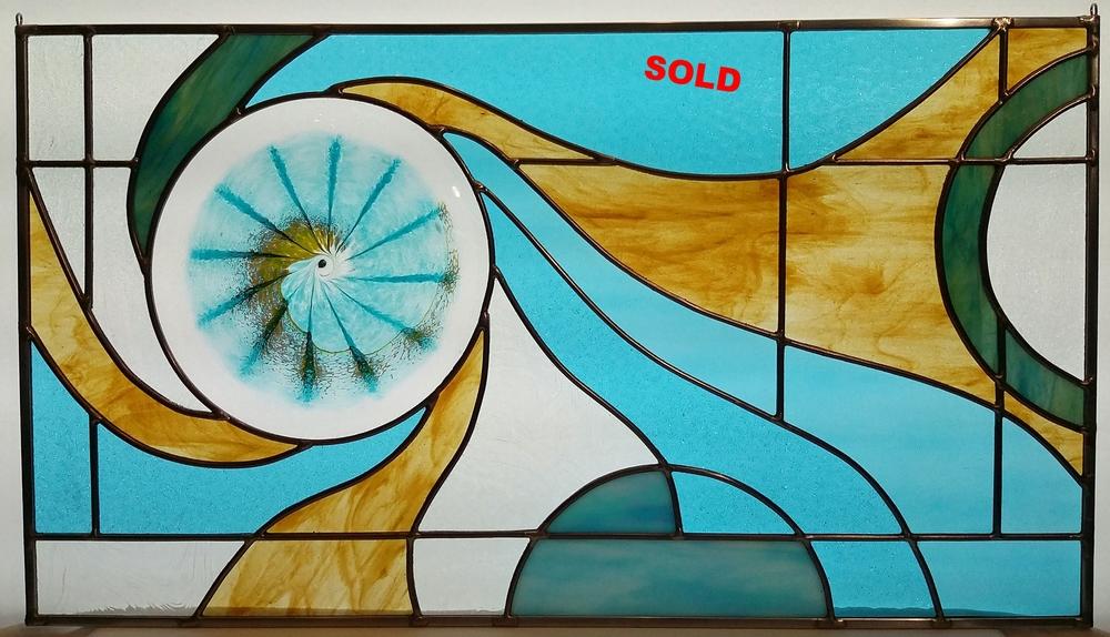 "Fibanocci Spiral ~ 14"" x 25"" ~ $235"