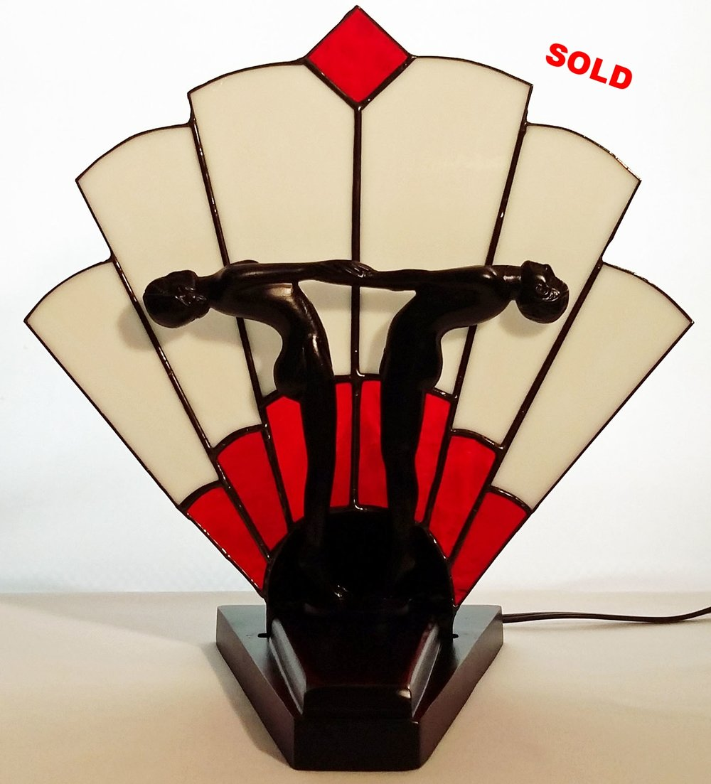 Art Deco Two Dancers Lamp