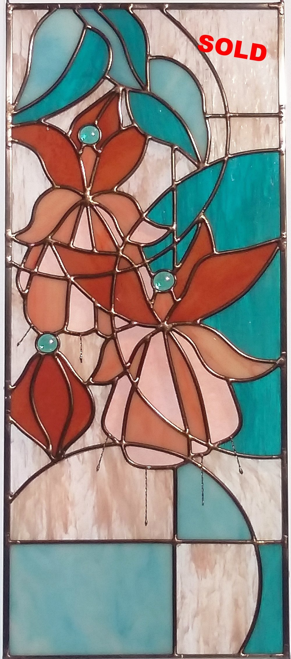 """Fuchsia Jewels ~ 10"""" x 24"""" ~ $380"""