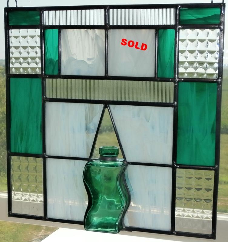"""4"""" Vintage Bottle ~ 12"""" x 12"""" ~ $115"""