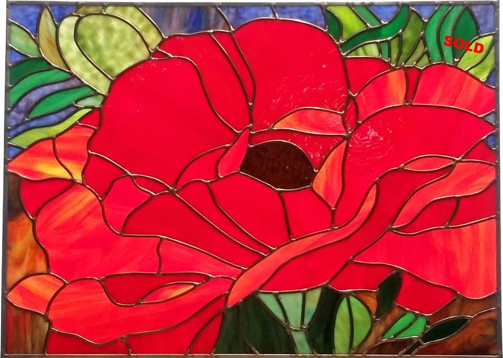 "Large Poppy II ~ 16"" x 24"" ~ $535"