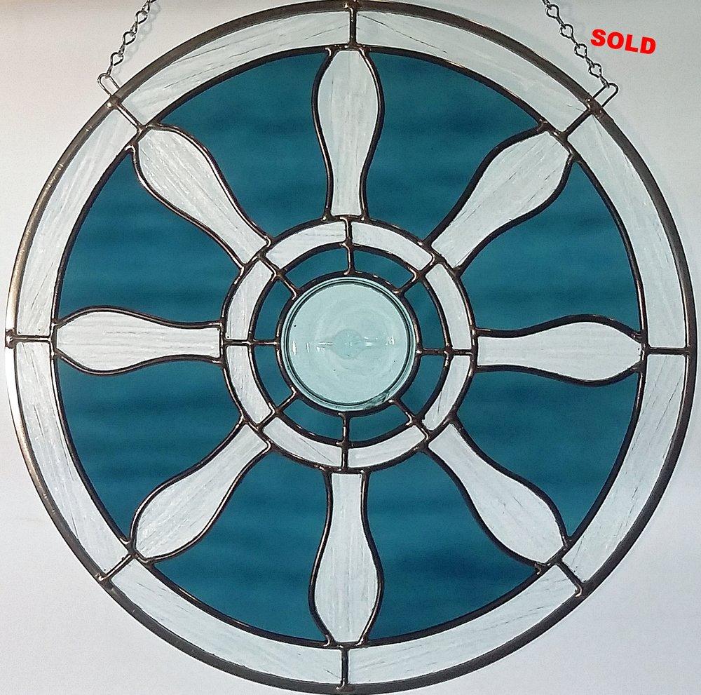 """Ship Wheel ~ 16"""" Round ~ $195"""