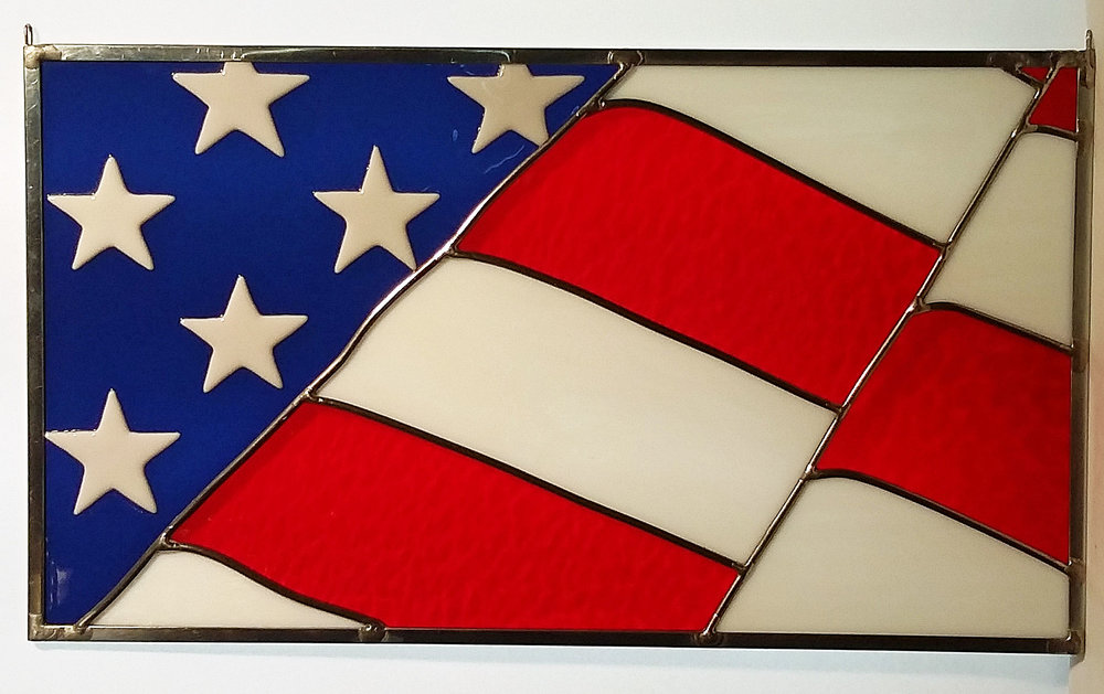 """Partial U.S, Flag ~ 17.5"""" x 10"""" ~ $120"""