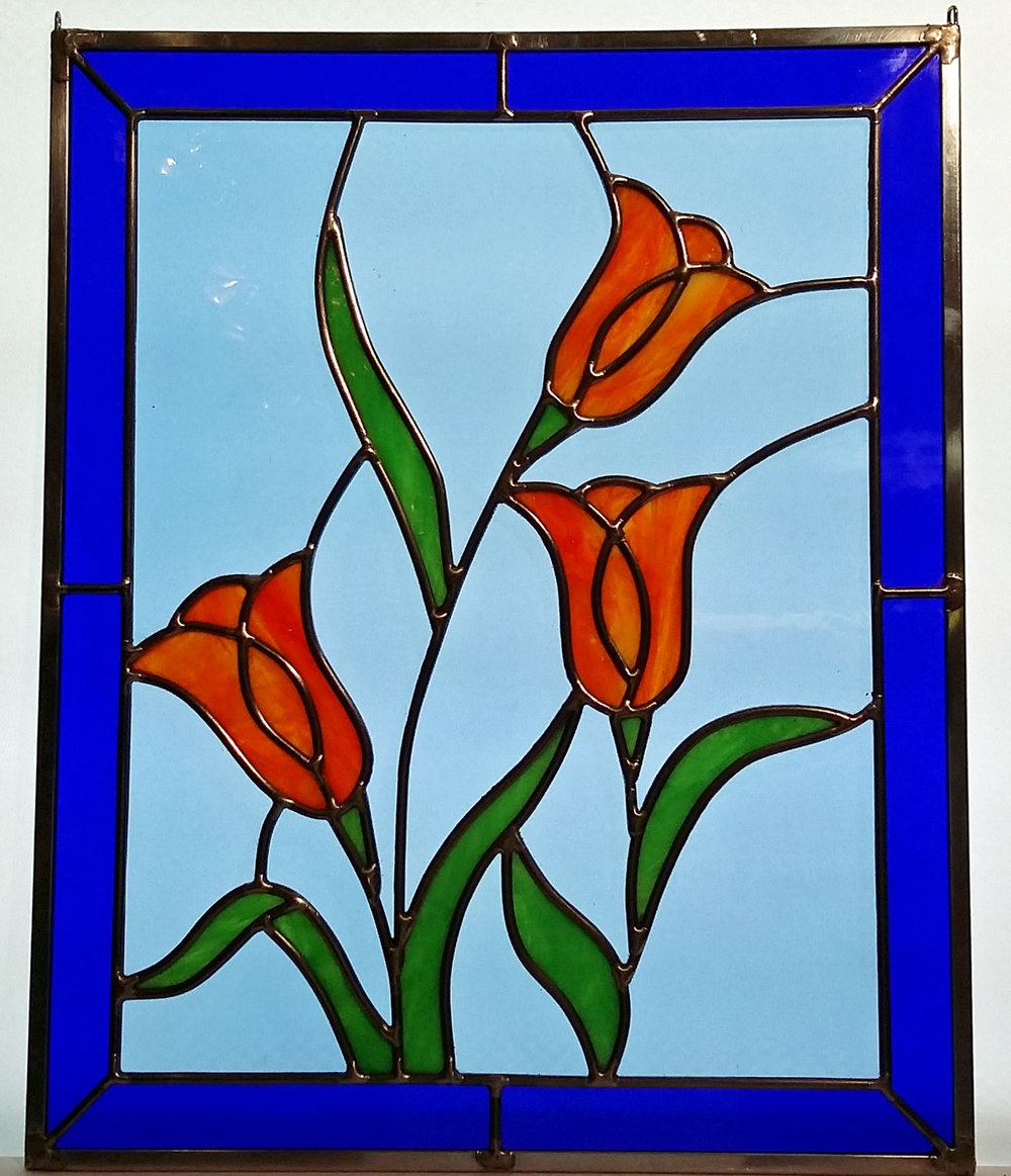 "Framed Tulips ~ 13"" x 16"" ~ $210"
