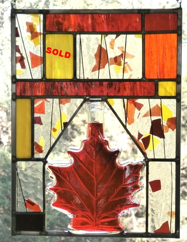 "Vintage Maple Leaf Bottle ~ 8"" x 11"""