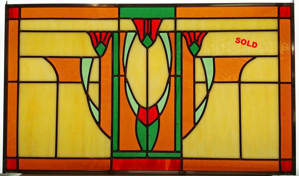 "Craftsman Tulips ~ 22.5"" x 13"" ~ $350"