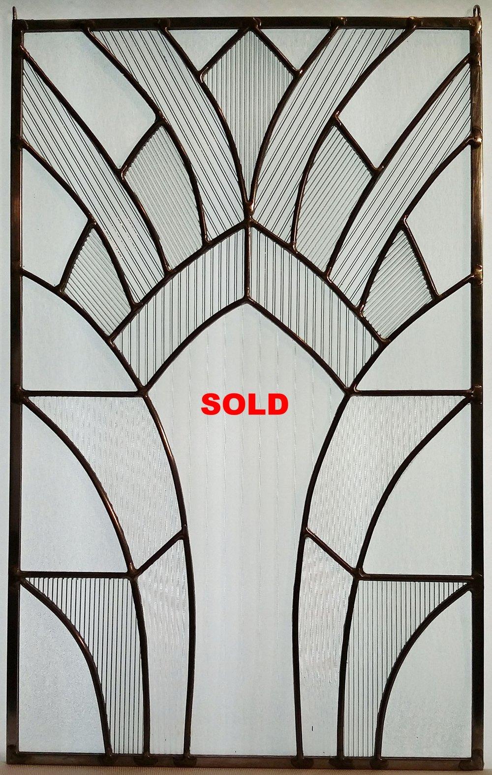"""Art Deco Arches ~ 12"""" x 19"""" ~ $175"""