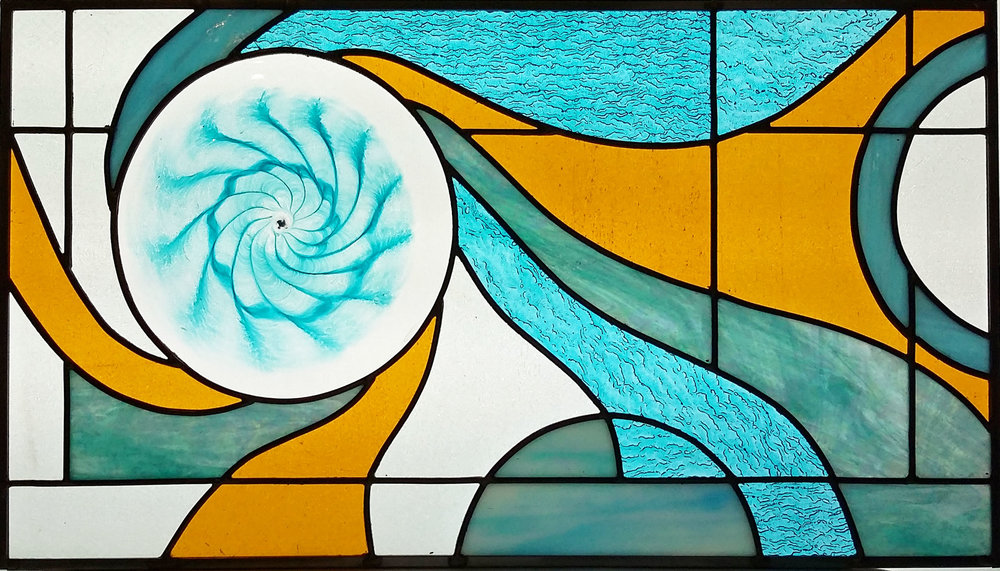 "Fibonacci Spiral III ~ 14"" x 25"" ~ $350"